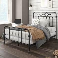 willow metal panel bed in 2020 black metal bed