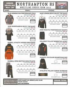 Free Clothes Sample Order Form Spirit Wear School Spirit Wear Order Form