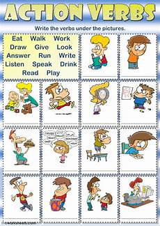 Action Verds Action Verbs Writing Interactive Worksheet