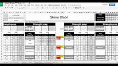 Workout Rep Sheet Google Sheets Training Templates Set Amp Rep Dropdowns