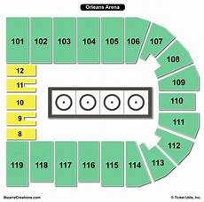 The Baltimore Arena Seating Chart Orleans Arena Seating Chart Seating Charts Amp Tickets