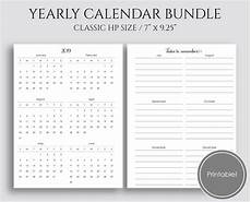 at a glance calendar 2020 yearly calendar bundle 2019 2020 year at a glance etsy