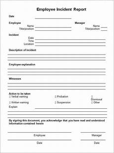 Eiu Incident Report Incident Report Template 85474 Incident Report Form