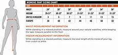 Kuhl Women S Pants Size Chart Sizing Information Is Provided By The Manufacturer And