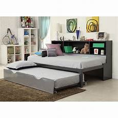 acme furniture renell panel bed with bookcase and trundle