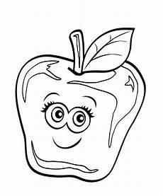 Ausmalbilder Lustiges Obst Kostenlose Malvorlage Obst Und Gem 252 Se Apfel Mit Lustigem