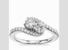 Two Stone Diamond Ring in 14k White Gold (1 ct. tw