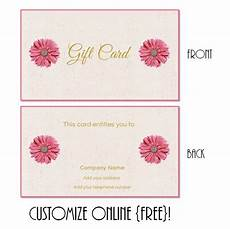 Gift Card Download Gift Card Template Gift Certificate Template Printable