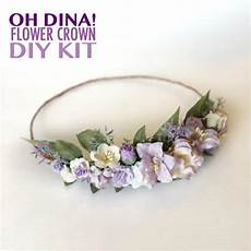 lavender flower crown diy kit lavender wedding headband diy