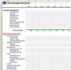 Home Budget Worksheets Home Budget Worksheet Template