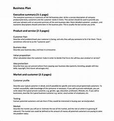 Product Service Plan Free 9 Sample Business Plan Templates In Google Docs Ms