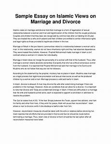 Argument Essay On Marriage Sample Essay On Islamic Views On Marriage And Divorce