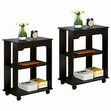 3 tier end side table rolling sofa coffee table desk