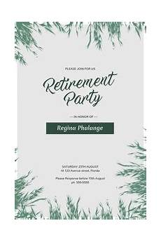 Retirement Party Flyers Party Flyer Templates Postermywall
