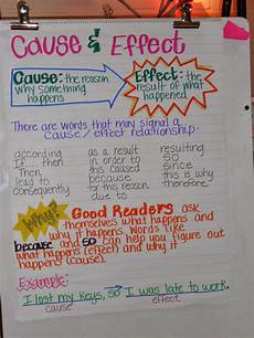 Cause And Effect Chart Cause Amp Effect Anchor Chart Thursdays The Creative