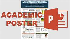 Academic Poster Template Powerpoint How To Make An Academic Poster In Powerpoint Youtube