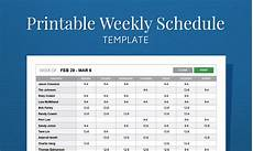 Free Weekly Work Schedule Template Excel Free Printable Weekly Work Schedule Template For Employee