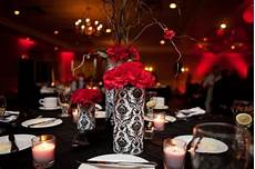 black and red table ideas black white red wedding table
