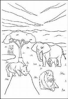 ausmalbild tiere in afrika ausmalbilder ausmalen