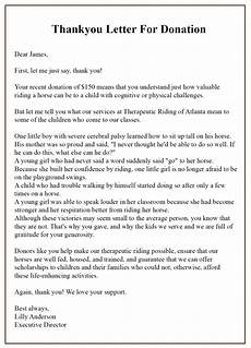 Thank You For Your Donation Letter Template 15 Format Of Sample Thank You Letter Template For
