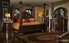 traditional king poster canopy leather bed 4 bedroom