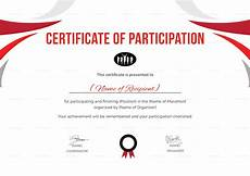Free Certificates Of Participation Participation Certificate For Running Template In Psd Word