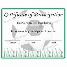 Soccer Certificate Templates For Word Soccer Certificate Of Participation Editable Pdf Max