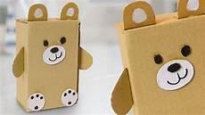 diy teddy from cardboard box easy craft