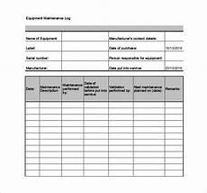 Equipment Maintenance Log Template Excel Equipment Maintenance Schedule Template Excel Task List