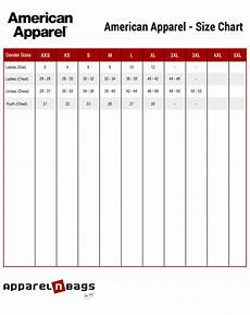 Connected Apparel Size Chart American Apparel Size Chart Apparelnbags Com