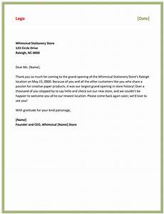 Sample Thank You Business Letters Best Business Thank You Letter Samples To Stay Professional
