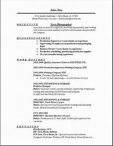 Photography Objective Resume News Photographer Resume Occupational Examples Samples