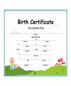 Blank Birth Certificate Forms Free 50 Certificate Examples In Pdf Examples