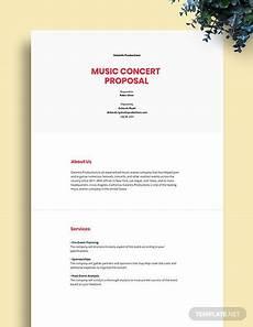 Music Proposal Template Music Concert Proposal Template Word Google Docs