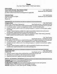 Business Major Resume Mays Masters Resume Format Career Management Center