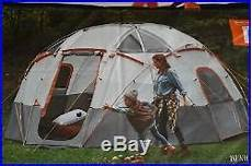 camping tent with built in lights new ozark trail 12 person basecamp tent with built in led