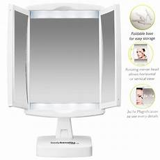 Conair 3x 1x Magnification Mirror With Led Lighting Conair Portable Lighted 1x And 3x Magnification Make Up