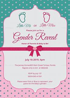 Free Printable Gender Reveal Invitations Elegant Gender Reveal Invitation Card Design Template In