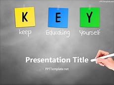 Templets For Ppt Free Key Chalk Hand White Ppt Template