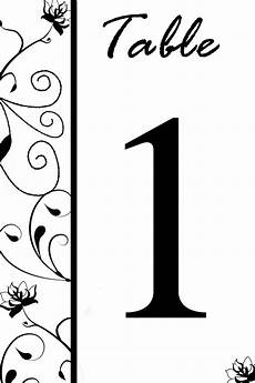 Numbers Design Template Free Table Number Templates Swirly Flowers Bridal Party Tees