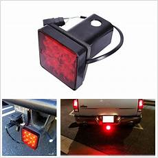 Led Reverse Light Hitch Cover 12 Led Brake Light Trailer Hitch Cover Towing Amp Hauling 2