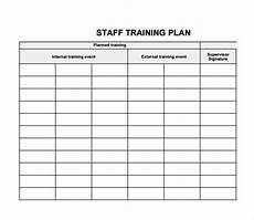 Staff Training Record Template Free Individual Employee Training Plan Template Printable