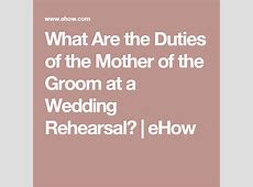What Are the Duties of the Mother of the Groom at a