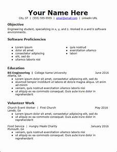 No Work Experience Resume Templates No Work Experience Resume Templates Free To Download