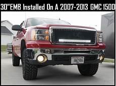 2012 Gmc Sierra Light Bar 30 Inch Led Light Bar And Behind The Grille Bracket For