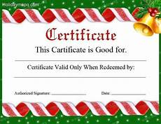 Gift Certificate Ideas For Christmas Gift Certificate Template Free Holidaymapq Com