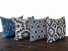 items similar to throw pillow covers set of four blue gray