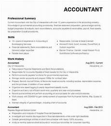 Accountant Resume Summary 31 Accounting Resume Skills List Di 2020