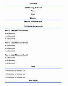 Easy Resume Format Download 70 Basic Resume Templates Pdf Doc Psd Free