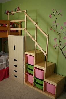 easy height bunk bed stairs ikea hackers